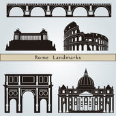 Rome landmarks and monuments — Stock Vector