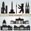 Berlin landmarks and monuments — Stock Vector