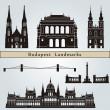 Постер, плакат: Budapest landmarks and monuments