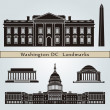 Washington DC landmarks and monuments — Stock Vector #29422159