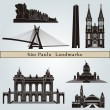 Постер, плакат: Sao Paulo landmarks and monuments