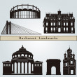 Bucharest landmarks and monuments — Stock Vector