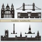 Постер, плакат: London landmarks and monuments