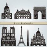 Постер, плакат: Paris landmarks and monuments