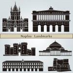 Постер, плакат: Naples landmarks and monuments