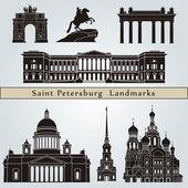 Saint Petersburg landmarks and monuments — Stock Vector