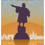 Barcelona vintage poster — Stock Vector #32493049