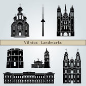 Vilnius landmarks and monuments — Stock Vector