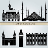 Istanbul landmarks and monuments — Stock Vector