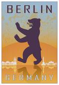 Affiche berlin — Vecteur
