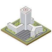 Isometric hospital building — Stock Vector
