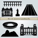 Постер, плакат: Rio de Janeiro landmarks and monuments