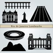 Rio de Janeiro landmarks and monuments — Stock Vector