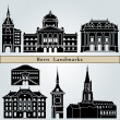 Bern landmarks and monuments — Stock Vector