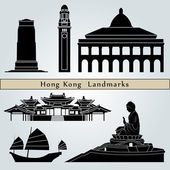 Hong Kong landmarks and monuments — Stockvector
