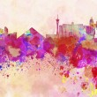 Las Vegas skyline in watercolor background — Stockfoto