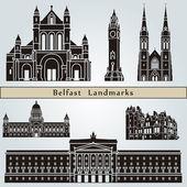 Belfast Landmarks — Stock Vector