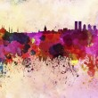 Istanbul skyline in watercolor background — Stock Photo #38467887