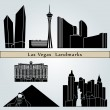 Las Vegas landmarks and monuments — Stock Vector #40210715