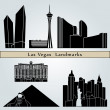 Las Vegas landmarks and monuments — Stock Vector