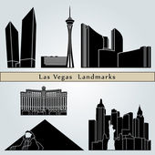 Las Vegas landmarks and monuments — Stock Vector