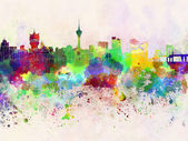 Macau skyline in watercolor background — Stock Photo