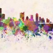 Austin skyline in watercolor background — Stock Photo #43831591