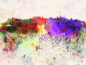 Skyline di edimburgo sfondo acquerello — Foto Stock