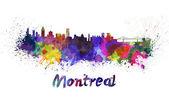 Montreal skyline in watercolor — Stok fotoğraf