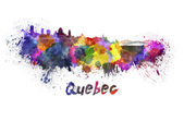 Quebec skyline in watercolor — Stock Photo