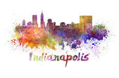 Indianapolis skyline in watercolor — Stock Photo