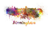 Birmingham skyline in watercolor — Stock Photo