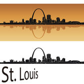 St Louis skyline — Stock Vector