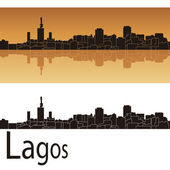 Lagos skyline — Stock Vector
