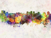 Halifax skyline in watercolor background — Stock Photo