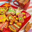 Gingerbread, Christmas cookies - Stock Photo