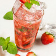 Drink, strawberry smash — Stok fotoğraf