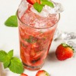 Drink, strawberry smash - Stock Photo