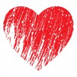 Vector de stock : Red heart