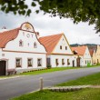 Village Holasovice, Czech Republic. Buildings in the baroque style. UNESCO World Heritage Site. - Stock Photo