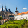 Kutna Hora, Czech Republic. Church of Saint Barbara. UNESCO World Heritage Site — Stock Photo