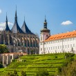 Kutna Hora, Czech Republic. Church of Saint Barbara. UNESCO World Heritage Site - Stock Photo