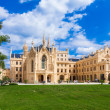 LEDNICE, CZECH REPUBLIC - AUGUST 10, 2012: palace Lednice-Valtice complex is largest complex of its type in world. World Heritage Site by UNESCO. — Stock Photo #21378795
