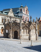 Kutna Hora, Czech Republic. Gothic Fountain. — Stock Photo
