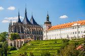 库特纳,捷克共和国。教会的圣徒巴巴拉。教科文组织世界遗产站点 — 图库照片