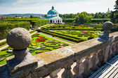 Flower garden of Castle in Kromeriz, Czech Republic. UNESCO World Heritage Site. — Stock Photo