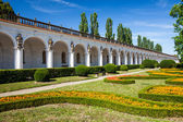 Colonnade in Flower garden in Kromeriz, Czech Republic. UNESCO World Heritage Site. — Stock Photo
