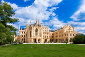 LEDNICE, CZECH REPUBLIC - AUGUST 10, 2012: The palace Lednice-Valtice complex is the largest complex of its type in the world. World Heritage Site by UNESCO. — Stock Photo