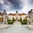 VALTICE, CZECH REPUBLIC - AUGUST 10, 2012: The palace Lednice-Valtice complex is the largest complex of its type in the world. World Heritage Site by UNESCO. - Stock Photo