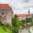 Panorama of Cesky Krumlov, Czech Republic. - Stock Photo